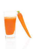 Marchwiany sok. Juicing. Fotografia Stock