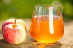 Marchwiany sok w szkle na stole Obraz Stock