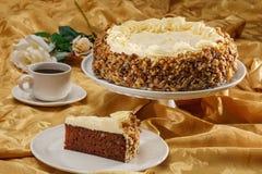 Marchwiany tort z dokrętkami Fotografia Stock