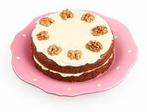 Marchwiany tort z kremowym serem zdjęcia royalty free