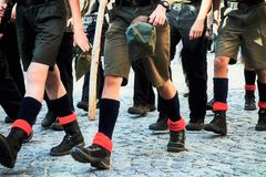 Marcia dei boy scout fotografia stock libera da diritti