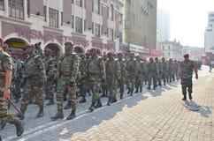Marcia dei soldati Fotografie Stock