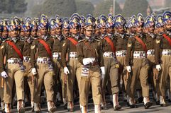 Marcia dei soldati Fotografia Stock Libera da Diritti