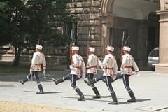 Marcia dei soldati della protezione Immagini Stock Libere da Diritti
