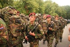 Marcia dei soldati di veterano Fotografie Stock Libere da Diritti