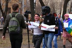 Marcia di Monstration Fotografia Stock