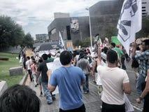 132 marcia di protesta Fotografie Stock
