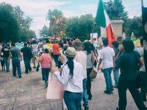 132 marcia di protesta Immagini Stock