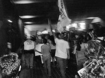 132 marcia di protesta Fotografia Stock