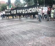 132 marcia di protesta Fotografie Stock Libere da Diritti