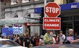 Marcia di protesta di campagna del cambiamento di clima Fotografia Stock Libera da Diritti