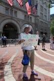 Marcia di protesta nella CC Fotografie Stock