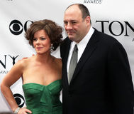 Marcia Gay Harden and James Gandolfini Royalty Free Stock Images
