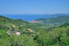 Marciana Jachthafen, Elba-Insel, Italien lizenzfreies stockbild
