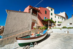 Marciana Jachthafen. Italien. stockbild