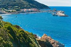Marciana Jachthafen. Italien. lizenzfreies stockfoto