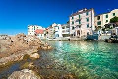 Marciana Jachthafen. Italien. stockfotos