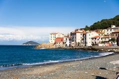 Marciana Jachthafen. Italien. stockfoto