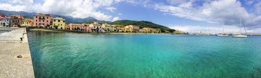Marciana Marina. Beautiful view of Marciana Marina, Elba Island Stock Photos