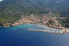 Marciana Marina Elba wyspa Fotografia Royalty Free