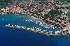 Marciana Marina Elba wyspa Zdjęcia Stock