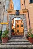 Marciana - portone antico Fotografia Stock