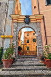 Marciana - puerta antigua Fotografía de archivo