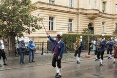 Marciando al fest del oktober Fotografia Stock Libera da Diritti