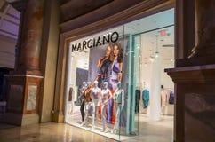 Marciano skärm för varuhusfönster Arkivbilder