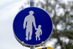 Marciapiede del segno Fotografia Stock Libera da Diritti