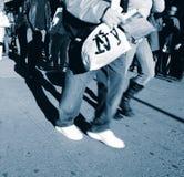 Marciapiede di New York City Fotografia Stock