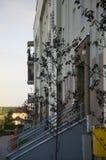 Marciapiede ed entrate alle scale del dur residentlal della costruzione Immagini Stock Libere da Diritti
