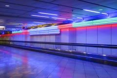 Marciapiede mobile in aeroporto Monaco di Baviera Fotografia Stock Libera da Diritti