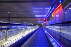 Marciapiede mobile in aeroporto Monaco di Baviera Fotografie Stock