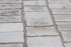 Marciapiede nei colori grigi Fotografia Stock Libera da Diritti