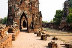 Marciapiedi a Ayutthaya Immagine Stock