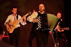 Marcin Wyrostek -独奏展示时尚星期 2015年10月3日,罗兹,波兰 库存照片