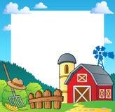 Marco 1 del tema de la granja stock de ilustración