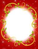 Marco 2 de la guirnalda del acebo de la Navidad Foto de archivo