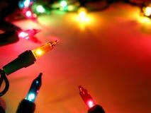 Marco 2 de las luces de la Navidad fotografía de archivo