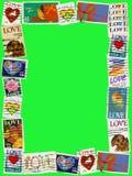 Marco 4x6 del sello del amor Foto de archivo libre de regalías