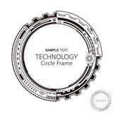 Marco abstracto circular de la tecnología stock de ilustración