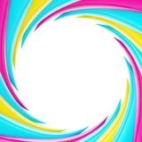 Marco abstracto circular hecho de elementos ondulados Fotografía de archivo libre de regalías