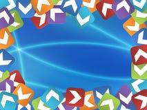 Marco abstracto con los cuadrados coloreados Imagen de archivo libre de regalías