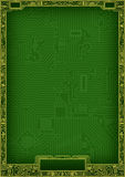 Marco abstracto de alta tecnología del espacio en blanco de la tarjeta de circuitos Fotografía de archivo libre de regalías