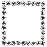 Marco abstracto de flores negras imagen de archivo libre de regalías