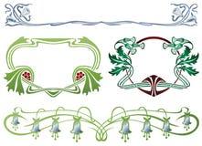 Marco abstracto de las plantas encuadernadas Imágenes de archivo libres de regalías