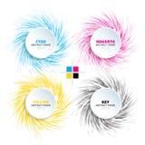 Marco abstracto del círculo con color encrespado espiral Fotos de archivo libres de regalías