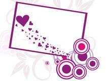 Marco abstracto del día de tarjeta del día de San Valentín Imagen de archivo