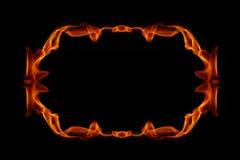 Marco abstracto del fuego Foto de archivo libre de regalías